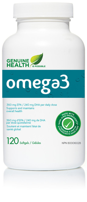 Genuine Health: omega3 (120 SoftGels)
