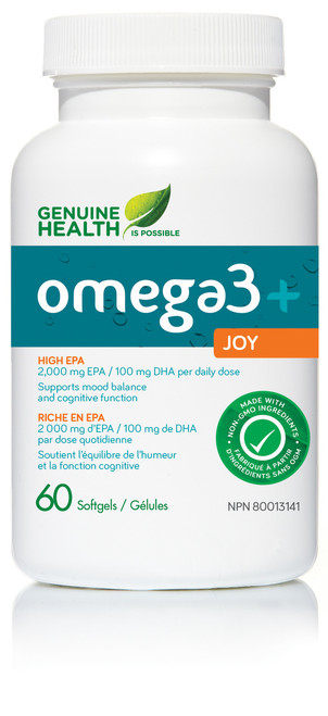 Genuine Health: omega3+ Joy (60 SoftGels)