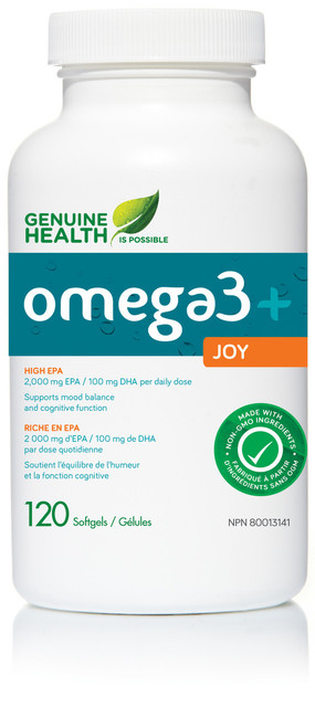Genuine Health: omega3+ Joy (120 SoftGels)