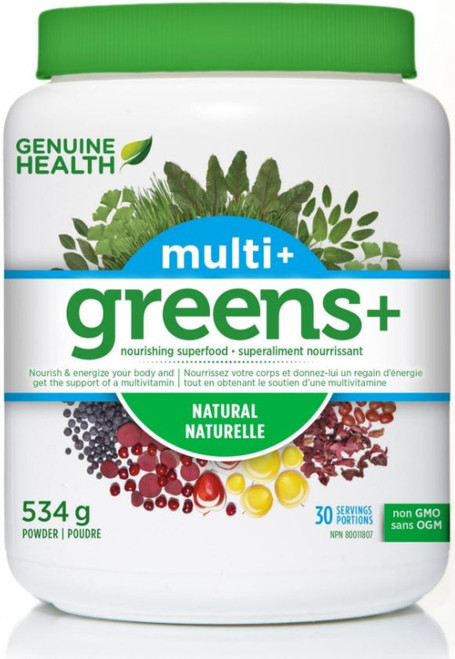 Genuine Health Greens + Multi + Natural 534g
