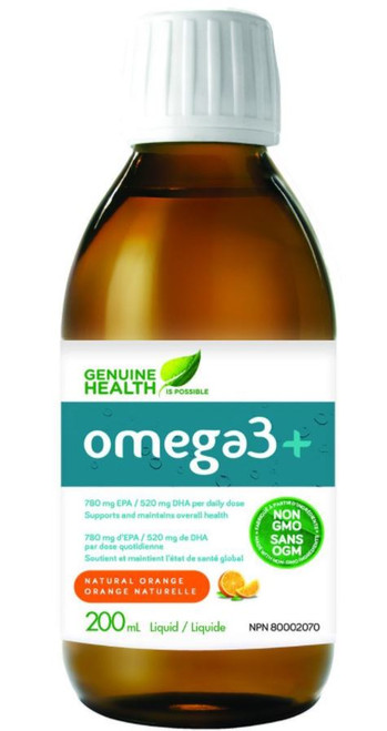 Genuine Health: omega3+ Natural Orange (200ml)