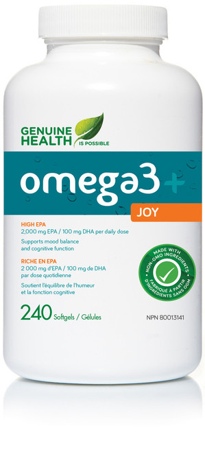 Genuine Health: omega3+ Joy (240 SoftGels)
