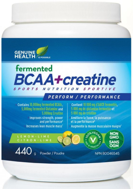 Genuine Health: Fermented BCAA+creatine - Lemon - Lime (440g)
