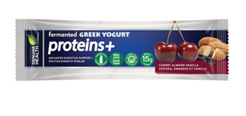 Genuine Health: Fermented Greek Yogurt Proteins+ Bars - Cherry Almond Vanilla (55g)