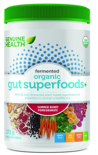 Genuine Health Fermented Organic Gut Superfoods Summer Berry.
