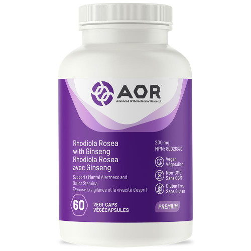 AOR: Rhodiola Rosea with Ginseng (200mg) (60 VegiCaps)