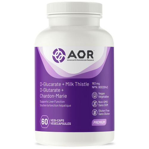 AOR: D-Glucarate + Milk Thistle (60 Vegi-Caps)