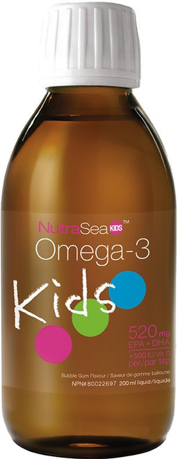 Nature's Way: NutraSea KIDS Bubble Gum Flavour  (520 EPA + DHA)  (200ml)