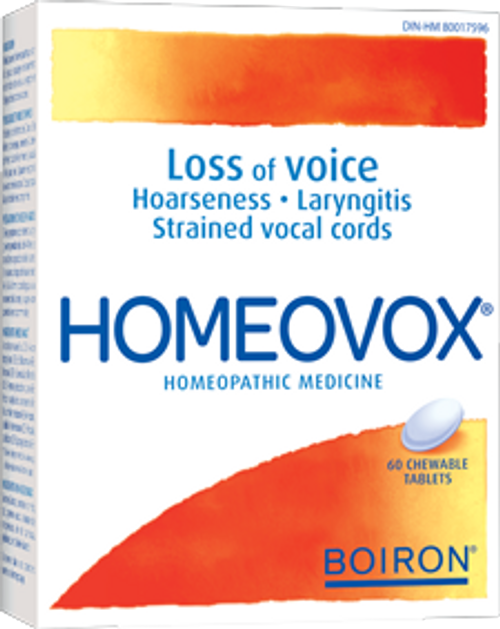 Boiron: Homeovox (60 Chewable Tablets)