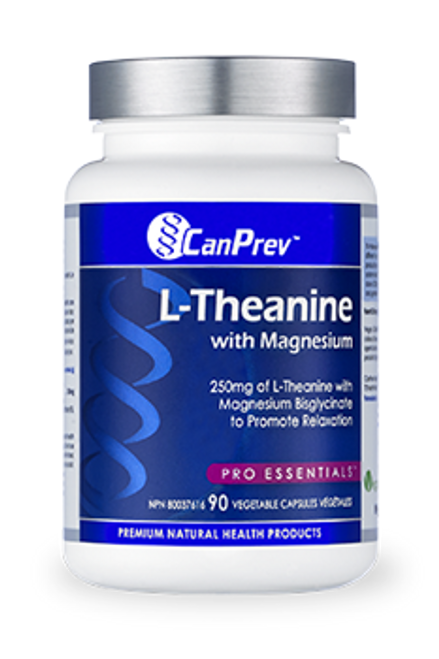 CanPrev: L-Theanine With Magnesium (90 Vegetable Caupsules)