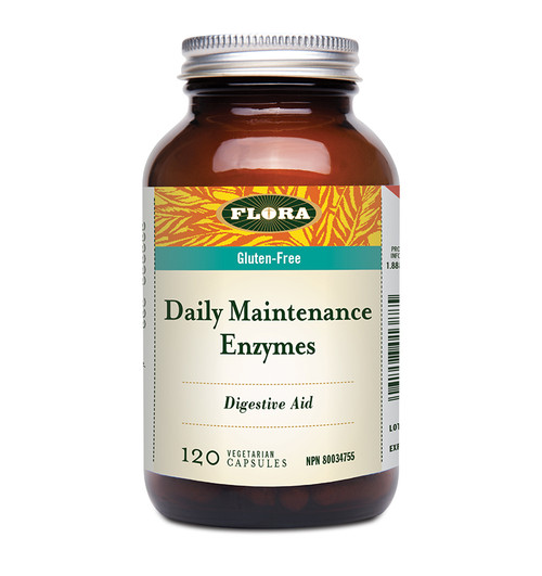 Flora: Daily Maintenance Enzyme (120 Vegetarian Capsules)