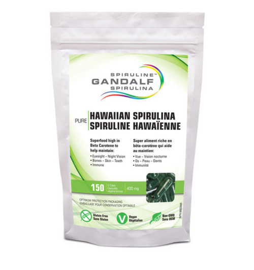 Gandalf: Hawaiian Spirulina (400mg) (150 V-Caps)