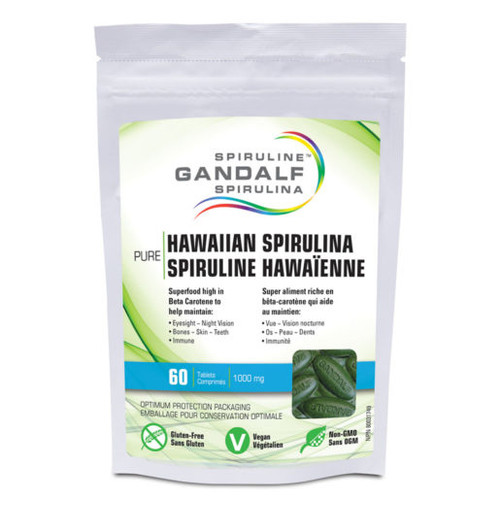 Gandalf: Hawaiian Spirulina (1000mg) (60 Tablets)