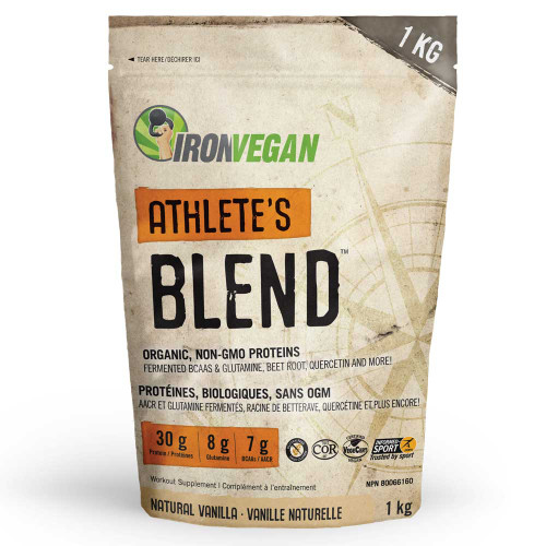 IronVegan: Athlete's Blend Protein - Natural Vanilla