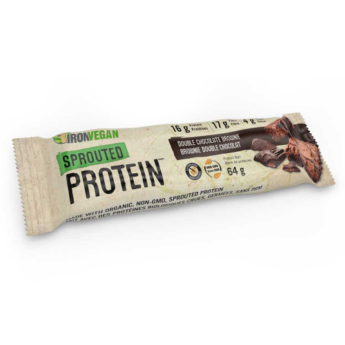IronVegan: Sprouted Protein Double Chocolate Brownie Bar (62g)