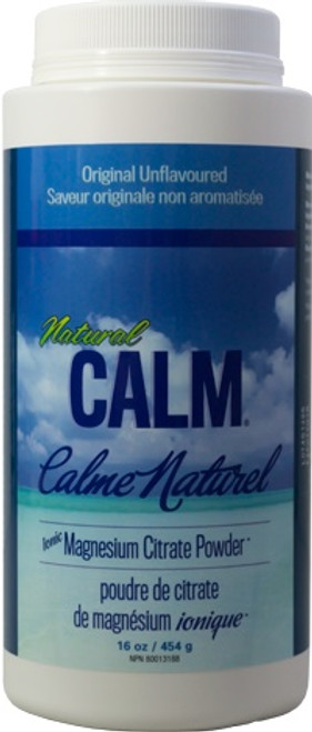 Natural Calm: Magnesium Citrate Powder Original Unflavoured (454g)