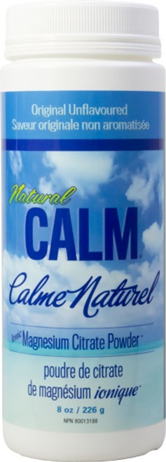 Natural Calm: Magnesium Citrate Powder Original Unflavoured (226g)