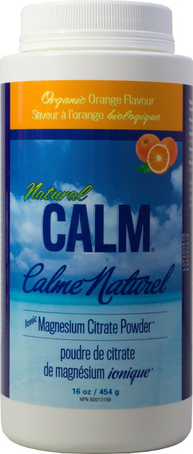Natural Calm: Magnesium Citrate Powder Orange (454g)