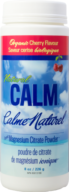 Natural Calm: Magnesium Citrate Powder - Cherry (226g)