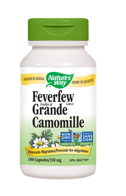 Nature's Way: Feverfew Leaves (100 Capsules)
