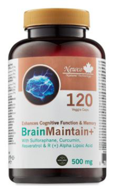 Newco: Brain Maintain+ (500mg) (120 Vegetable Capsules)