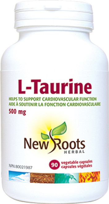 New Roots Herbal: L-Taurine (500mg) (90 Vegetable Capsules)