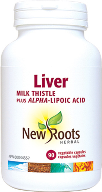 New Roots Herbal: Liver (Milk Thistle plus Alpha-Lipoic Acid) (90 Vegetable Capsules)