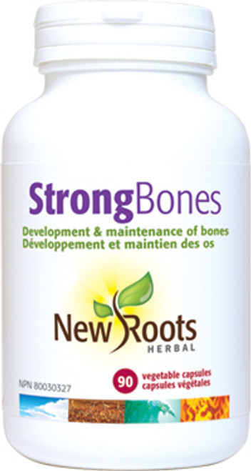 New Roots Herbal: Strong Bones (90 Vegetable Capsules)