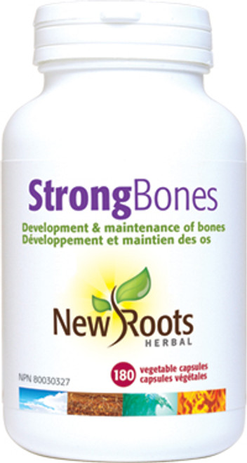 New Roots Herbal: Strong Bones (180 Vegetable Capsules)