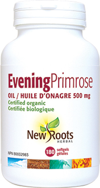 New Roots Herbal: Evening Primrose Oil (500mg) (180 SoftGels)