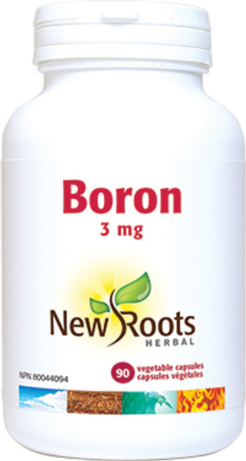New Roots Herbal: Boron (3mg) (90 Vegetable Capsules)