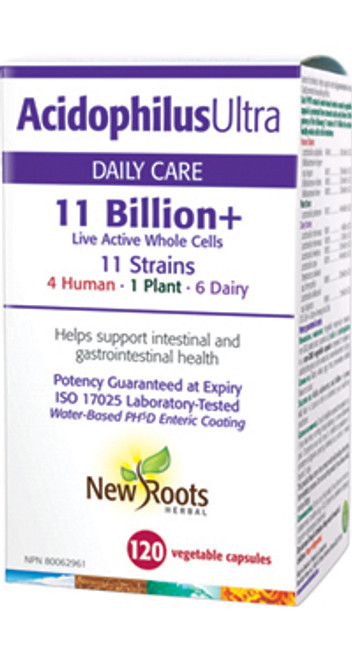 New Roots Herbal: Acidophilus Ultra (120 Vegetable Capsules)