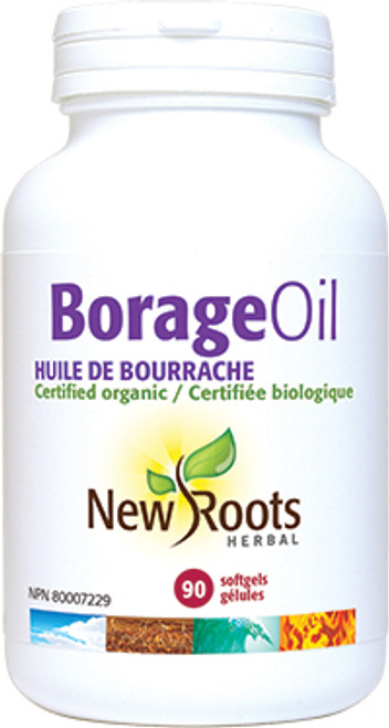 New Roots Herbal: Borage Oil (90 SoftGels)