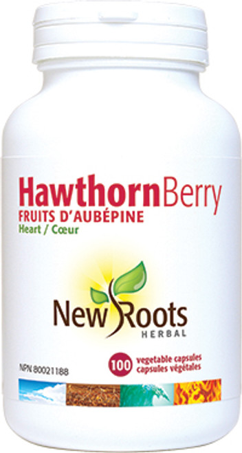 New Roots Herbal: Hawthorn Berry (100 Vegetable Capsules)