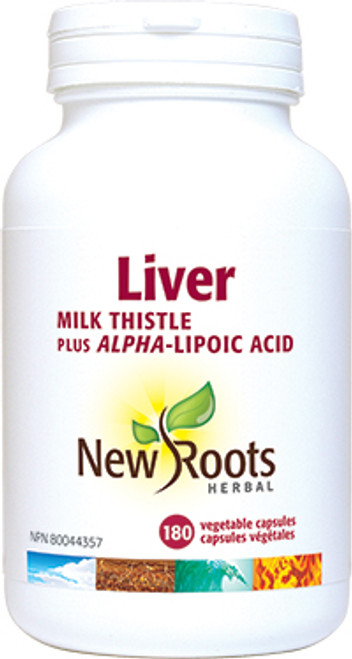 New Roots Herbal: Liver (Milk Thistle plus Alpha-Lipoic Acid) (180 Vegetable Capsules)