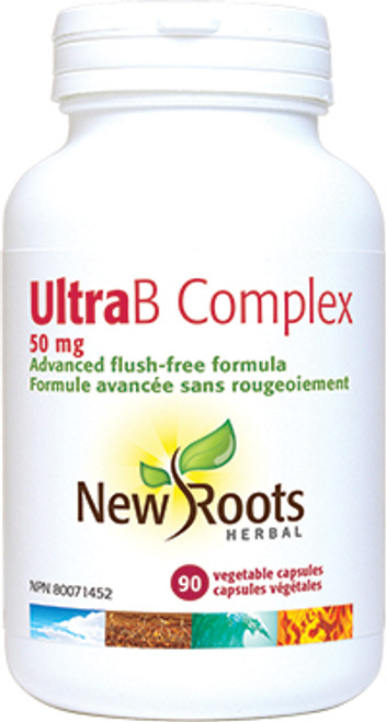 New Roots Herbal: Ultra B Complex (50mg) (90 Vegetarian Capsules)