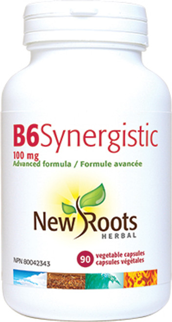 New Roots Herbal: B6 Synergistic (100mg) (90 Vegetable Capsules)