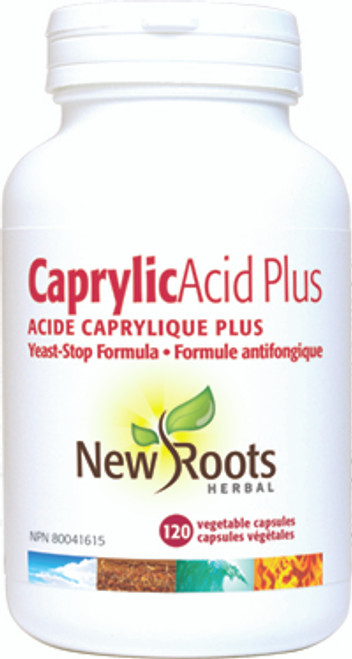 New Roots Herbal: Caprylic Acid Plus (120 Vegetable Capsules)