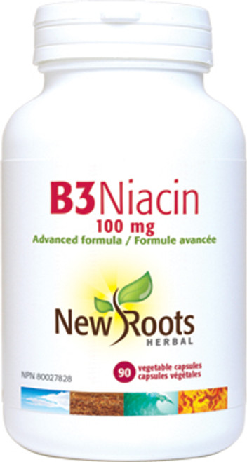 New Roots Herbal: B3 Niacin (100mg) (90 Vegetable Capsules)