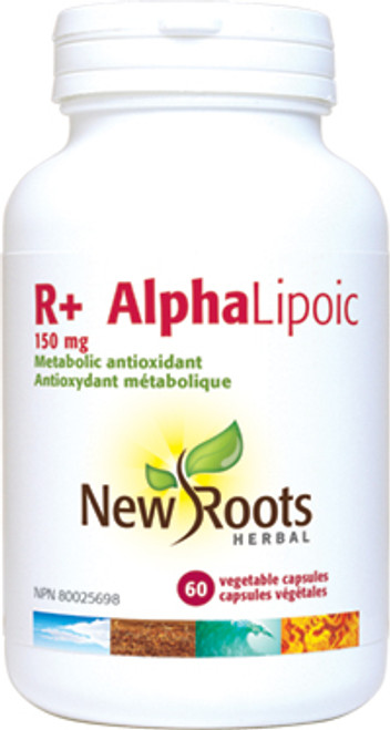 New Roots Herbal: R+ Alpha Lipoic (150mg) (60 Vegetable Capsules)