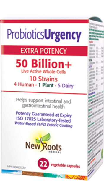 New Roots Herbal: Probiotics Urgency (22 Vegetable Capsules)
