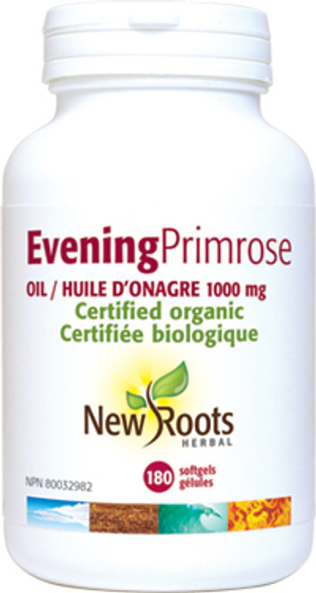 New Roots Herbal: Evening Primrose Oil (1000mg) (180 SoftGels)