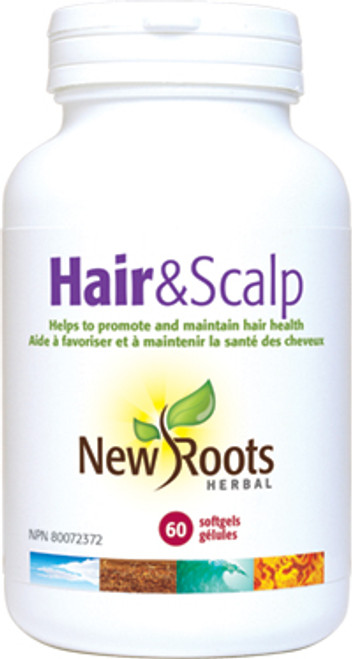 New Roots Herbal: Hair & Scalp (60 SoftGels)