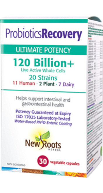 New Roots Herbal: Probiotics Recovery - 120 Billion + (30 Vegetable Capsules)