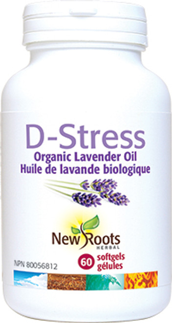 New Roots Herbal: D-Stress (60 Softgels)