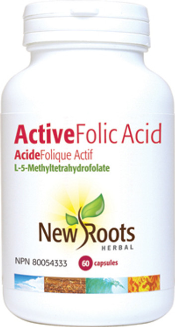 New Roots Herbal: Active Folic Acid (60 Tablets)