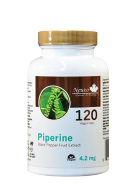 Newco: Piperine Black Pepper Fruit Extract (210mg) (120 Vegetable Capsules)