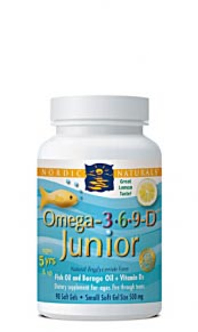 Nordic Naturals: Omega 3-6-9 Junior (500mg) (90 Soft Gels)