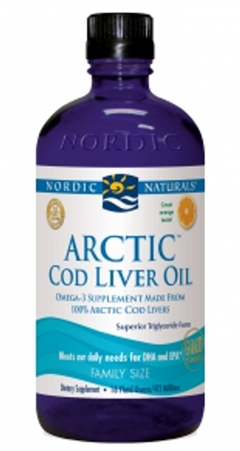 Nordic Naturals: Arctic Cod Liver Oil Liquid - Orange (Family Size) (473ml)