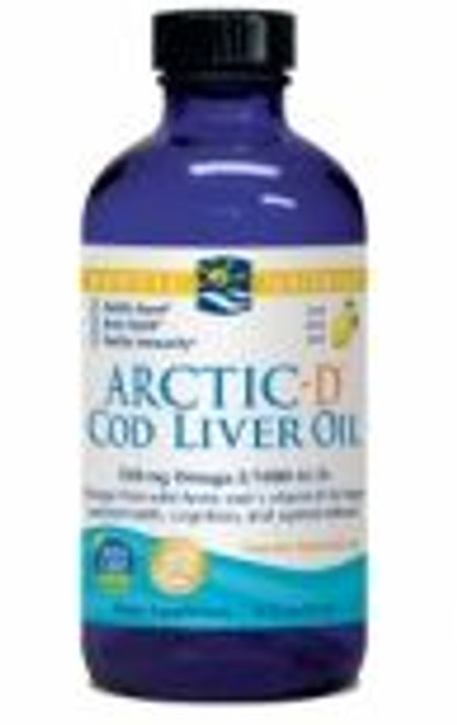Nordic Naturals: Arctic-D Cod Liver Oil - Lemon (237ml)